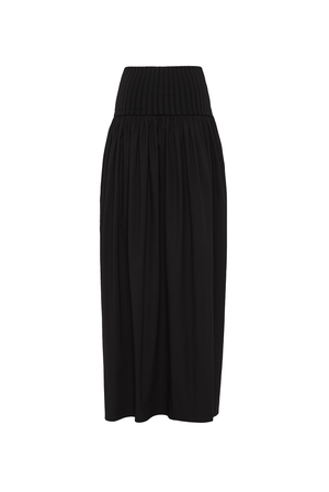 Cotton Rib Midi Skirt