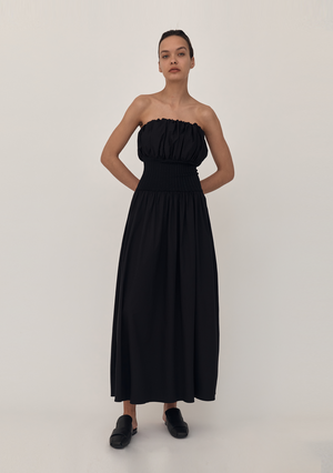 Strapless Cotton Rib Dress