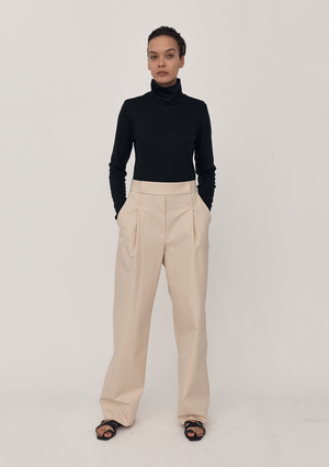 Wide Leg Utility Pants - Putty