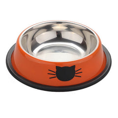 1PC Cat Bolws Pet Feeding Bowls Tool Stainless Steel Anti-skid Water Bowl Food Dish Dog Feeder Bowl For Dogs Cats Supplies
