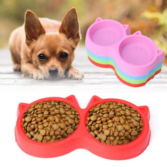 Pet Products Plastic Cat Facial Care PET Bowl Environmental protection, non-toxic to dogs Food double bowls Crockery Pet feeding