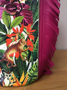 Sac Bourse Jungle fushia