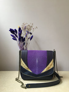 Besace Galuchat violet