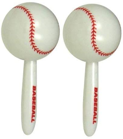"1 pair of 7"" Baseball Maracas"