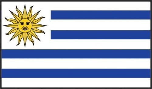 Online Stores 3ft x 5ft Uruguay Flag - Polyester 3 x 5 - Poly Guarani Flag