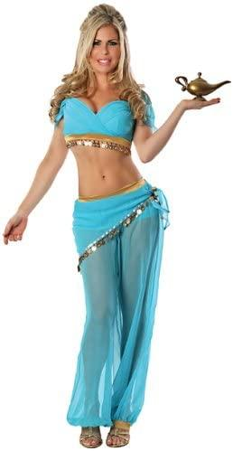 Delicious of NY Women's Arabian Nights Sexy Costume, Blue, Extra-Small