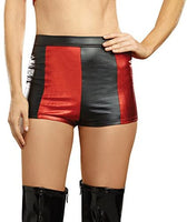 Dreamgirl Harlequin High Waisted Shorts, Black and Red Shorts