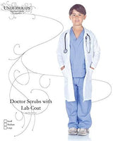 Underwraps Costumes Children's Doctor Scrubs with Lab Coat, Large 10-12 Childrens Costume