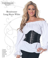Underwraps Plus Size Women's Renaissance Long Sleeve Blouse Adult Costume