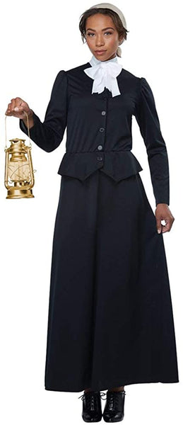 California Costumes Women's Susan B. Anthony - Harriet Tubman - Adult Costume Adult Costume, Black/White, Small
