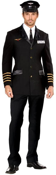 Mile High Pilot Hugh Jorgan Adult Costume - Medium