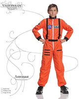UNDERWRAPS Orange NASA Astronaut Costume for Kids - Official NASA Patches