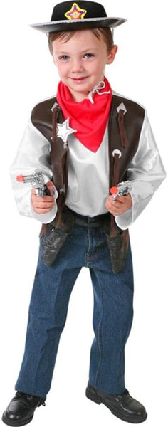 Child's Cowboy Costume Playset (Size: Large)