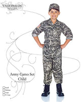 UNDERWRAPS Children's Army Camo Set Costume - Camouflage, Extra Large (14-16)