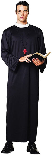 Lets Party By Paper Magic Group Priest Robe Adult Costume/Black - One Size