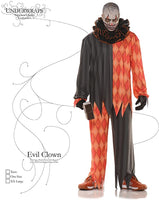 Underwraps Men's Evil Clown Costume - Twisted