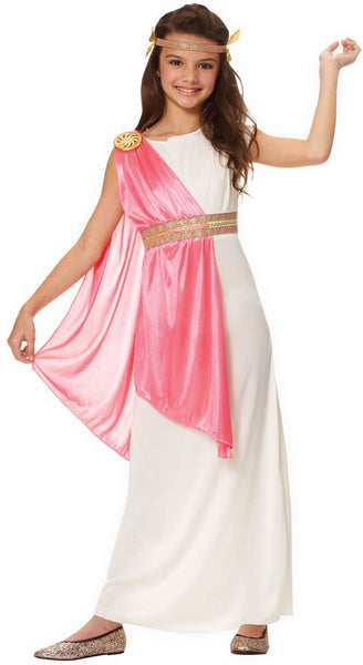 Costume Culture Girl's Roman Empress Costume, Ivory, Medium