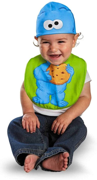 Disguise Infant Baby Cookie Monster Sesame Street Hat & Bib