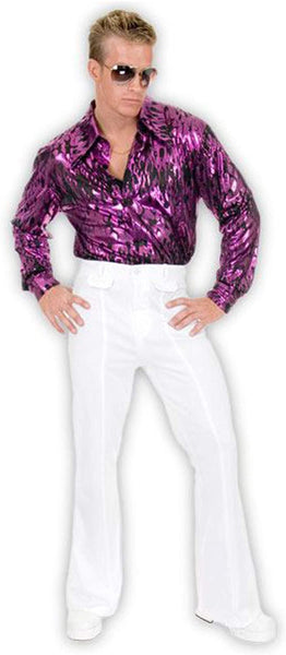 Charades Men's Disco Pants Costume White 34