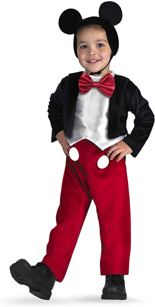 Disguise Deluxe Kids Dinsey Mickey Mouse Costume, size S (4-6)