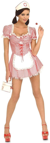 Candy Striper Nurse Costume - X-Small - Dress Size 2-6