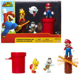 "SUPER MARIO Nintendo Dungeon 2.5"" Figure Multipack Diorama Set with Accessories"