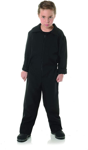 UNDERWRAPS Big Boy's Children's Horror Jumpsuit Costume - Boiler Suit Childrens Costume, Black, Large