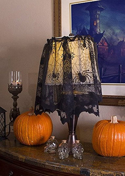 Halloween Lace Home Décor - Lace Lamp Cover