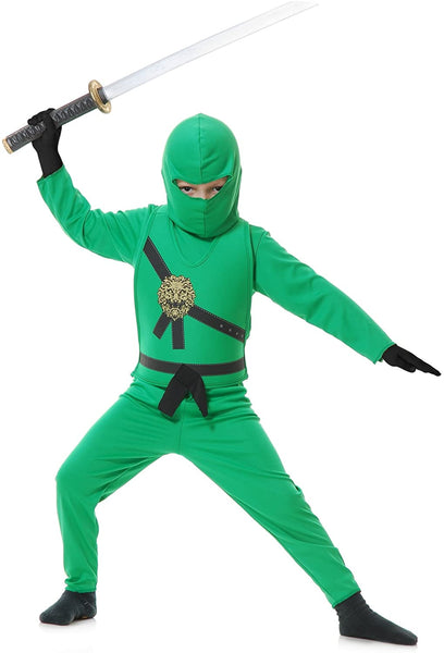 Charades Child's Ninja Avenger Costume, Jade Green