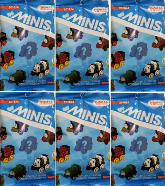 Thomas and Friends Minis Engines 2016 Wave 4 Blind Bags Gift Set Party Bundle - 6 Pack