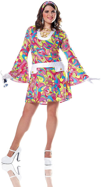 Costume Culture Women's Plus-Size Groovy Chic Costume