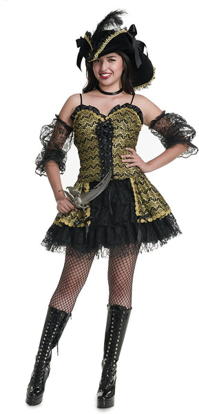 Charades Women's Black Pearl Beauty Costume