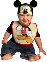Disguise Drool Over Me Disney Mickey Mouse Infant Bib and Hat Costume