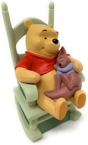 "Disney - Winnie Pooh + Friends : Winnie Pooh + Roo (Sweet Dreams Little One) - Size 4.5"" high - Materials: porcelain - Enesco"