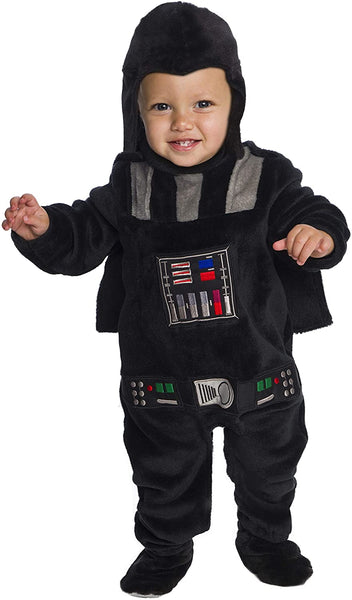 Rubie's Kid's Star Wars Classic Darth Vader Deluxe Plush Costume Romper Baby Costume, Color As Shown, Infant