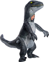 Jurassic World Deluxe Velociraptor Blue Inflatable Child Costume
