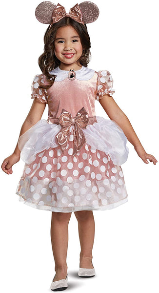 Rose Gold Minnie Mouse Classic Toddler Girl Costume