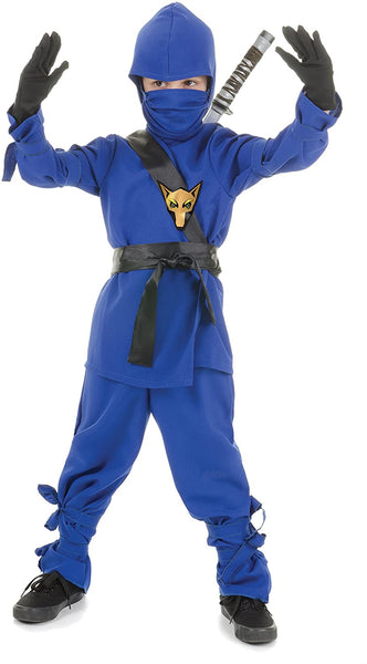UNDERWRAPS Costumes Children's Blue Ninja Costume, Small 4-6 Childrens Costume
