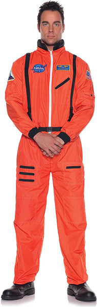 UNDERWRAPS Men's Orange Astronaut Costume