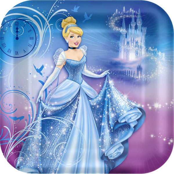 Hallmark BB010873 Cinderella Dinner Plates - 8-Pack by Hallmark