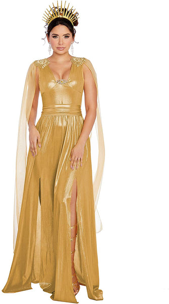 Dreamgirl Women's Sun Goddess, Gold, Medium