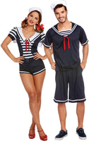 Dreamgirl Women's Seaside Sailor, Navy/White, Large