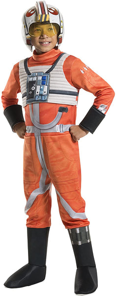 Rubie's Costume Kids Classic Star Wars Deluxe X Wing Fighter Pilot Costume, Small