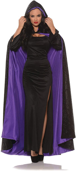 UNDERWRAPS Hooded Velvet Cape with Lining Adult Costume Accessory