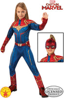 Girls Captain Marvel Hero Suit Deluxe Superhero Costume