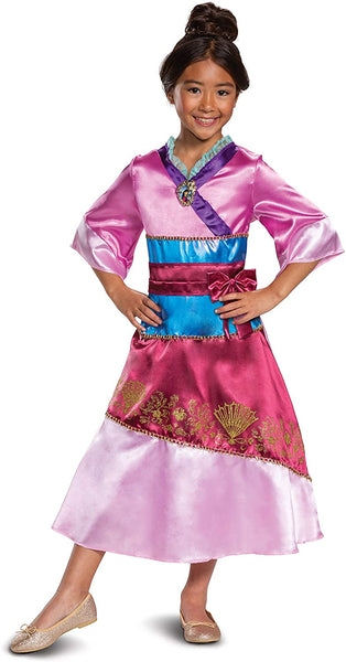 Disney Princess Mulan Costume Dress for Girls, Children's Character Dress Up Outfit