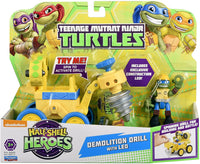 Teenage Mutant Ninja Turtles Pre-Cool Half Shell Heroes Space Construction Drill/Leonardo Vehicle & Figure