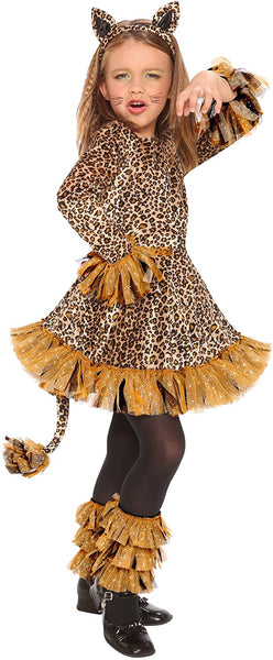 Living Fiction Girls' Leopard Costume Large