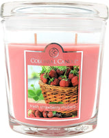 Colonial Candle 9 oz Fresh Strawberry Rhubarb Oval Jar