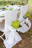 Chair Cover with Bow Sash - 10 pc Pack White